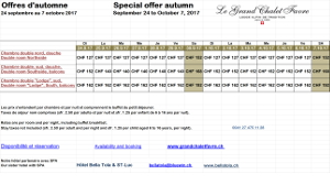 Special offer autumn 2017